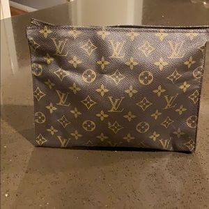 Louis Vuitton Brown Toiletry Pouch vintage